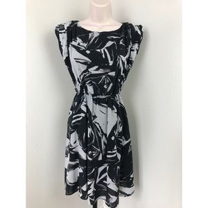 Alice + Olivia Abstract Print Silk Dress